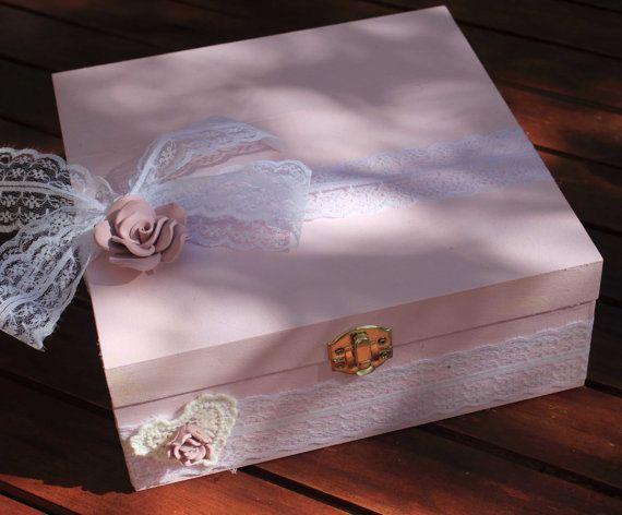 Boite  urne mariage bois gamme mariage rose par lamarieeinspiree