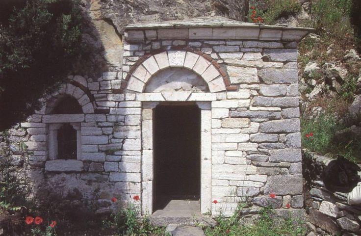 Το σπήλαιο του αγίου Σίμωνος (Ιερά Μονή Σίμωνος Πέτρα, Άγιον Όρος)  - St Simon's cave (Holy Monastery of Simonopetra, Mount Athos)