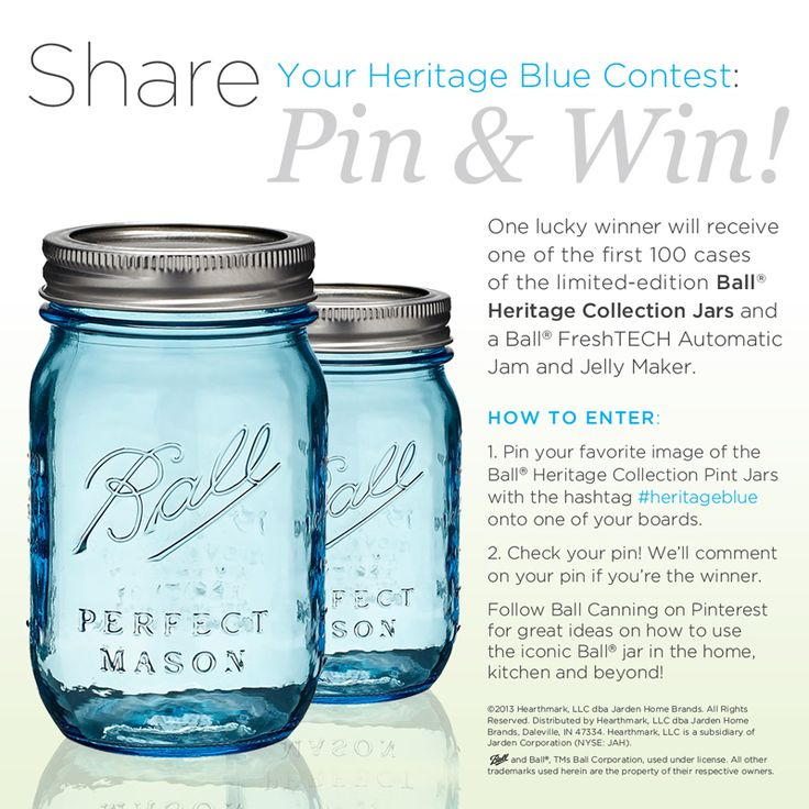 Sarah Hearts | Mason jar wedding idea Pin this to one of your boards with hashtag #heritageblue for a chance to win a jam maker and case of these jars! #heritageblue
