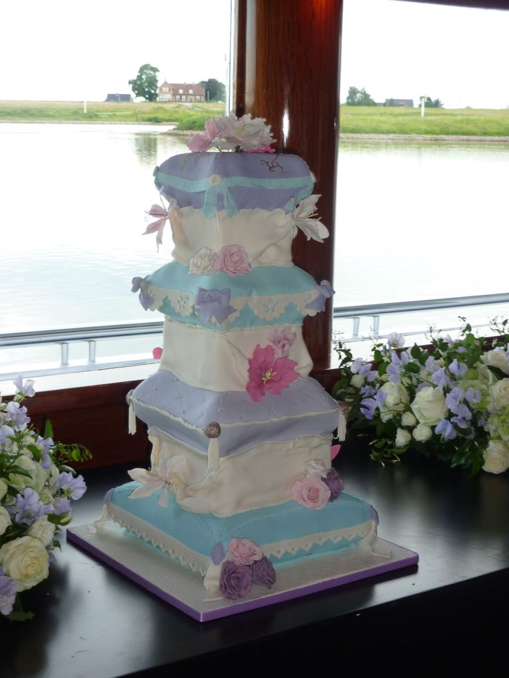 Pillow Wedding Cakes | tier pillow cake — Other / Mixed Shaped Wedding Cakes