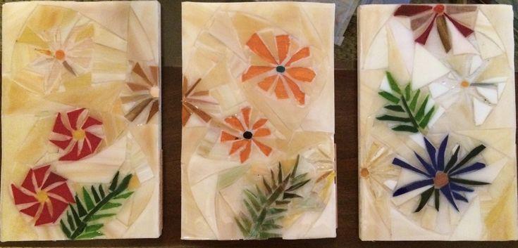 Triptico flores 20 x35cm