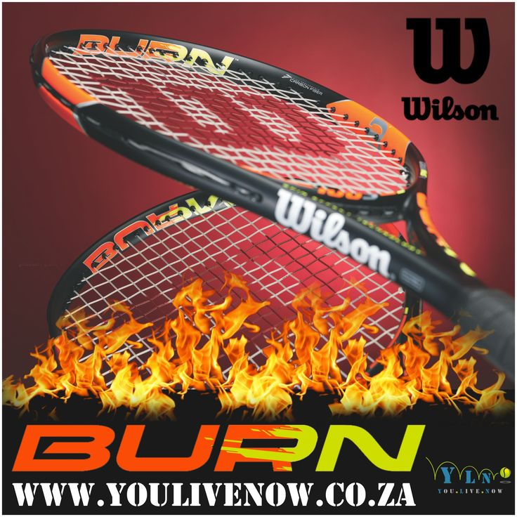 With the Burn 100S Wilson gives aggressive players a very impressive tool for attacking the ball. Featuring a grippy 18x16 Spin Effect string pattern, the 100S is a great option for those looking for near effortless spin.  Order the Burn Racquet and receive a FREE tin of US open Tennis balls & Profile overgrip (3 pack).   http://www.youlivenow.co.za                                             #burn #burntennisracquet #tennisracquet #wilsonburn #wilsonburnracquet