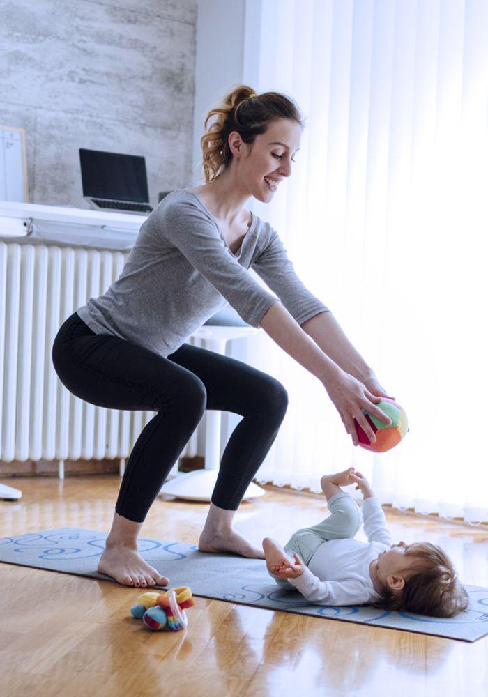 After-Baby-Body: Tolle Ideen für Ihr Training mit Baby!   – Fitness Übungen // Ernährungstipps // Zuhause trainieren