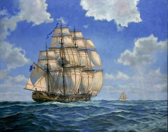 18th Century Royal Navy frigate