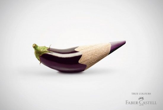 Print advertising campaign for the German manufacturer of pen and pencil Faber-Castell. A work from Serviceplan Munich agency.
