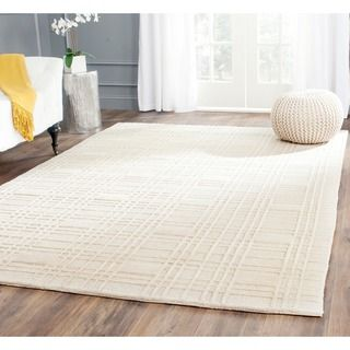 Safavieh Hand-Knotted Contemporary Tibetan Ivory Wool Rug (8' x 10')