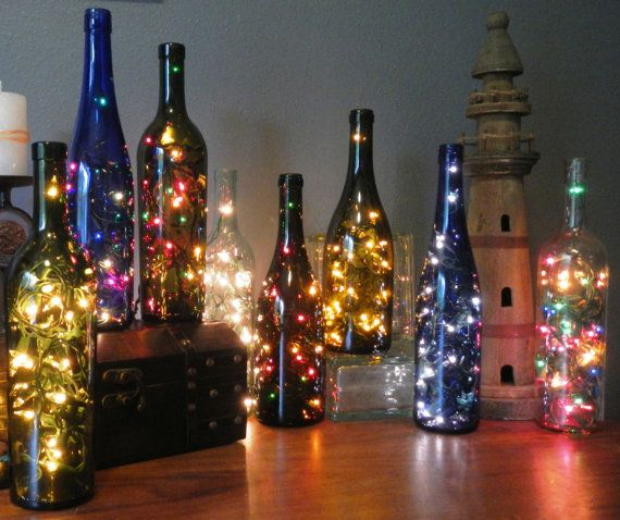 These string light bottles would make wonderful presents. So cheap, easy, and beautiful!