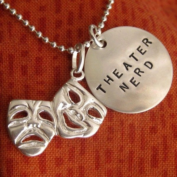 Theatre Gifts, Drama Gifts, Musical Theatre Geek, Comedy Tragedy... ($48) ❤ liked on Polyvore