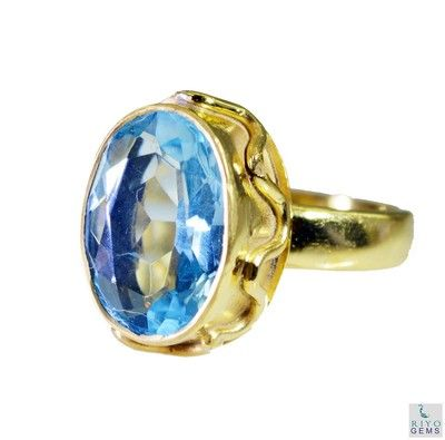 Riyo Blue Topaz Cz Wholesale Gold Plate Ecclesiastical Ring Sz 7 Gprbtcz7 92060 Rings on Shimply.com