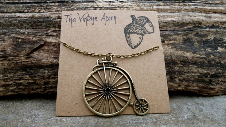 Vintage Bicycle Necklace.