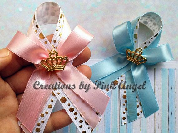 Set Of 12 Pink Royal Princess Baby Shower Guest Pin Favors