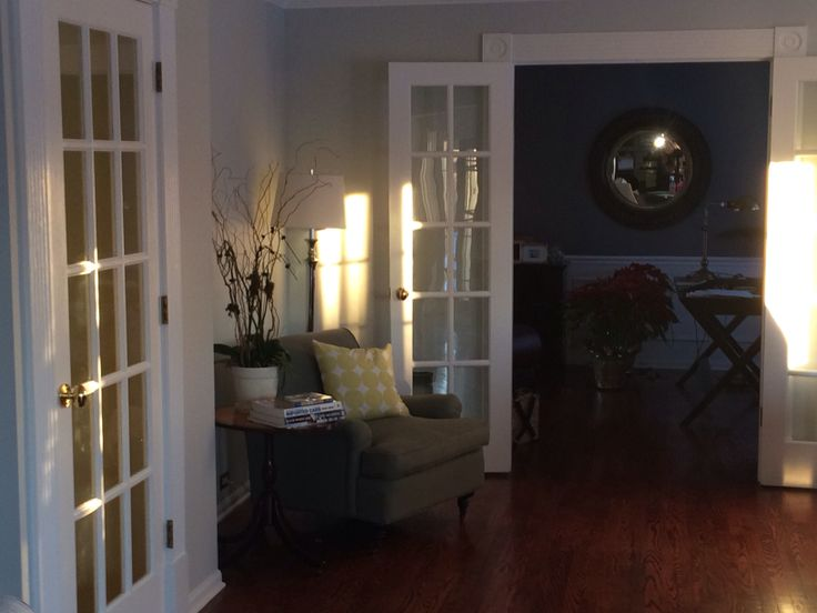 Benjamin Moore Silvery Moon New Family Room Color