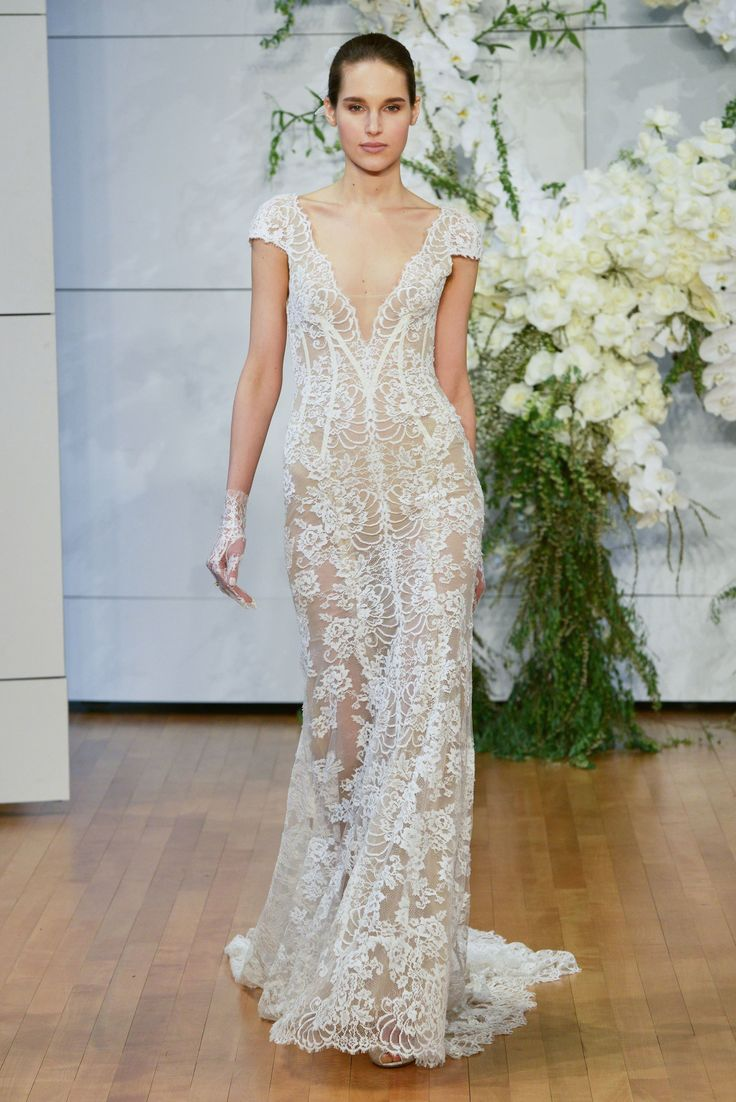 630 best Half Sheer Wedding Gowns for the Daring Bride images on ...