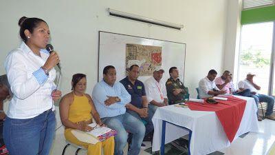 Alcaldesa encargada se reunió con líderes comunales de Riohacha