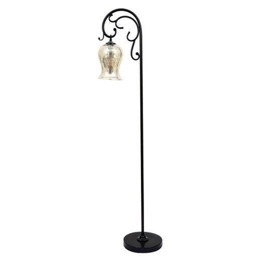 J. Hunt Textured Bronze Floor Lamp with Mercury Glass Shade : Target