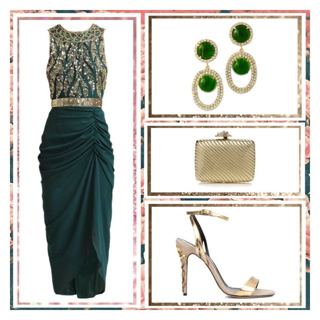 """""""Outfit # 4916"""" by miriam83 ❤ liked on Polyvore featuring Virgos Lounge, Kenneth Jay Lane, Oscar de la Renta and Judith Leiber"""