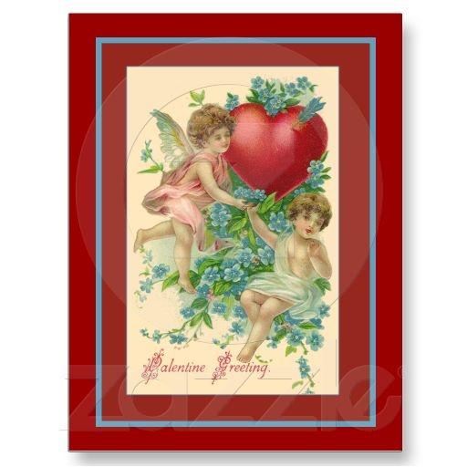 vintage valentine hearts clip art