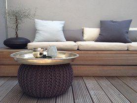 Holz Terrasse Sitzbank