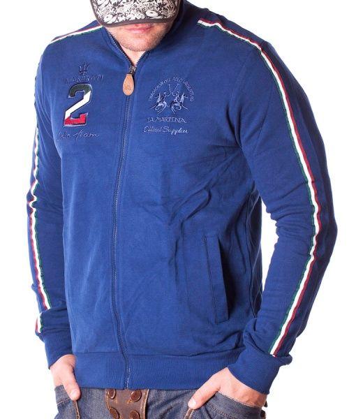 La Martina Hanorace Cu Fermoar - Maserati 2 Polo Team hanorac cu fermoar albastru