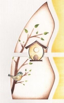 """genevievefumalb0228 Gabarit décor """"végétal"""", tampon """"oiseaux"""" et dentelle """"oiseaux"""""""