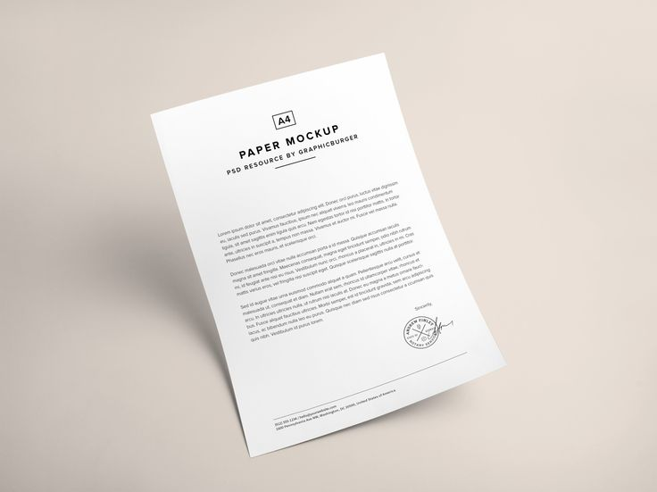 A4 Paper PSD MockUp | GraphicBurger