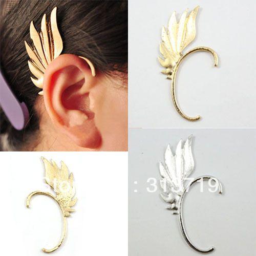 Fashion Gothic Punk Rock Metal Wing Earring Ear Cuff Warp Clip On Stud