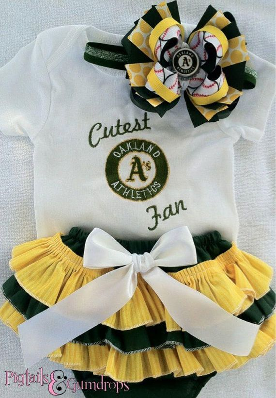 Cutest Oakland A's  inspired outfit by pigtailsandgumdrops on Etsy, $55.00