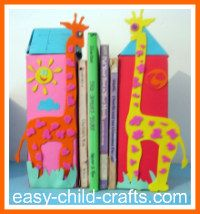 I love crafts that you can actually use... like these bookends!