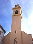 Iglesia de San Vicente Ferrer. Construida en el s. XVII de nave única con capillas laterales al contrafuerte. En el s. XIX toma forma de basílica con arcos formeros.