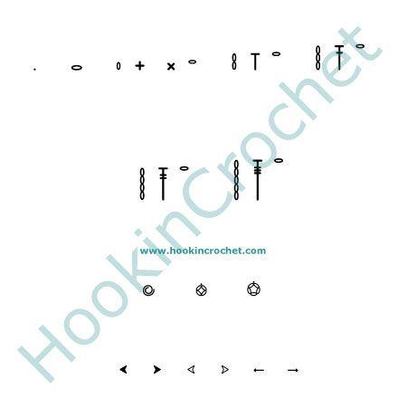 HookinCrochet Symbols Basics Font Software by HookinCrochet�