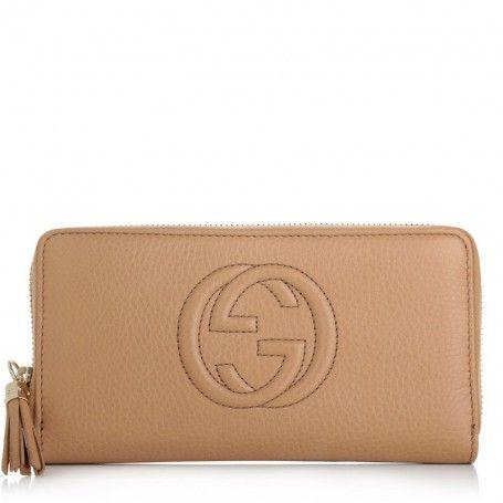 Gucci Kleinleder – Soho Cellarius Wallet Nude – in beige – Kleinleder für Damen