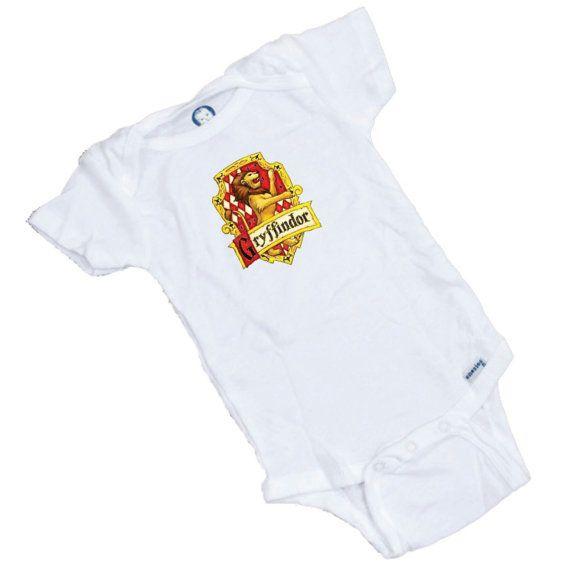 Harry Potter Gryffindor House Symbol Custom printed onesie, Great Baby Shower Gift. 7.95$