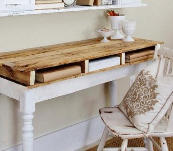 Cómo hacer un escritorio con un palet: Crafts Ideas, Con Palet, How To Make, Interior Decoration, Intentar Buhos, Palet Ideas, Escritorio Con, Future Cribs, Desks Tops