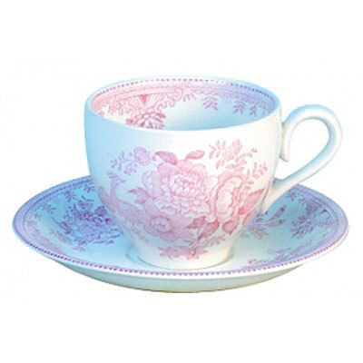 Pink Asiatic Pheasant Tea Cup and Saucer - British Isles