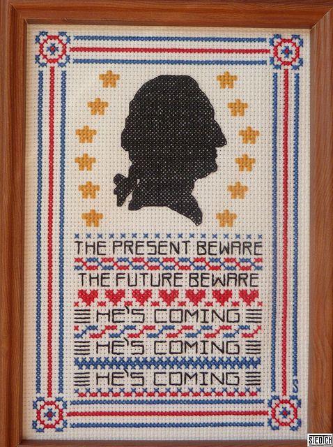 Clearly the best cross-stitch ever. #diy #washington: Washington Awesome, George Washington, Heartwarm Crosses, Awesome Pin, Crosses Stitches, Crossstitch Inspiration, Washington Crosses, Diy Projects, A Quotes