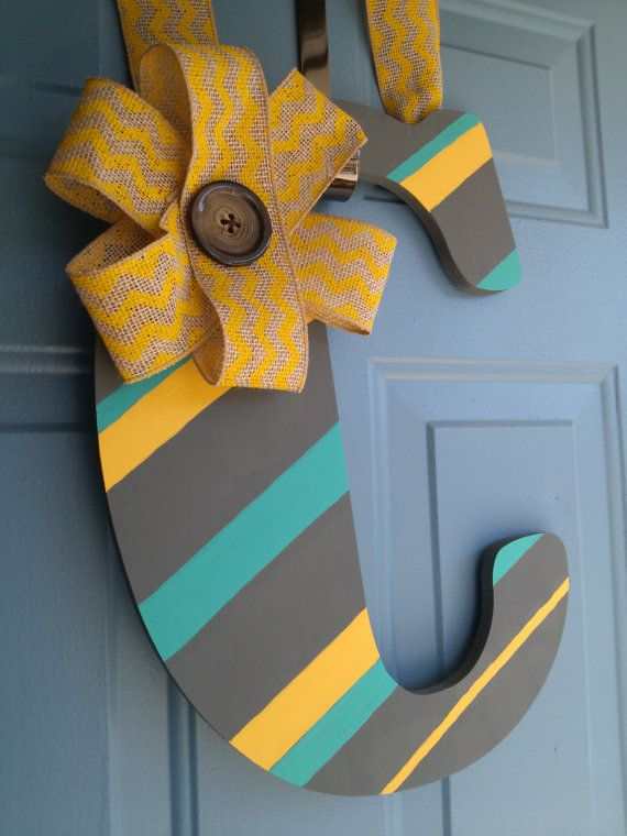 Letter Door Hanger by TheCutestHouse on Etsy