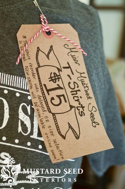 Miss Mustard Seed Price Tag