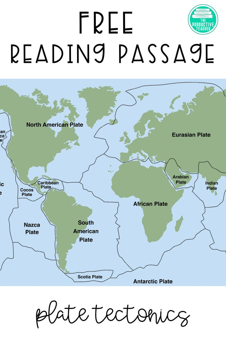 Free Reading Passage All About Plate Tectonics Free Reading Passages Plate Tectonics Reading Passages [ 1104 x 736 Pixel ]