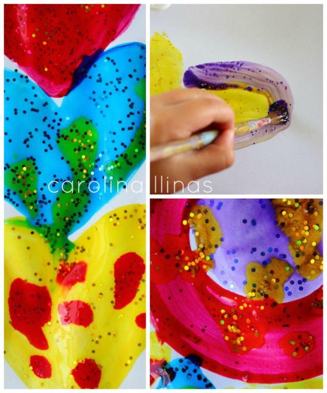 Pintura Brillante hecha en casa | #Artividades
