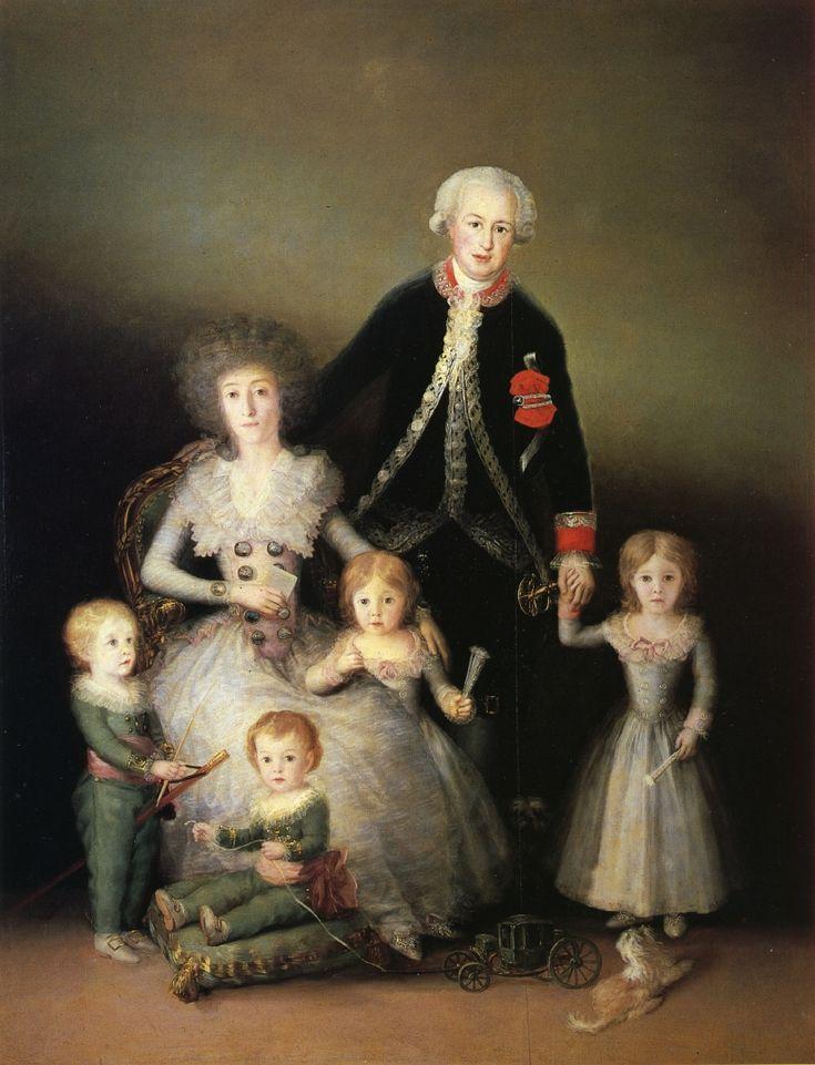 Portrait du duc et de la duchesse d'Osuna et leurs enfants, 1787-88 Francisco de Goya y Lucientes