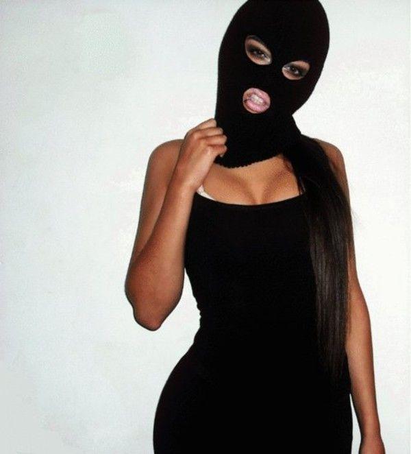 hat balaclava swag girl gangster black sexy beanie
