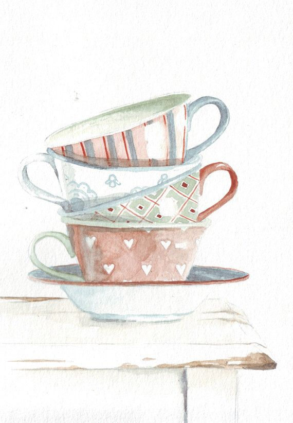 1287 best cups and tea illustrations images on pinterest for Tea and coffee wall art