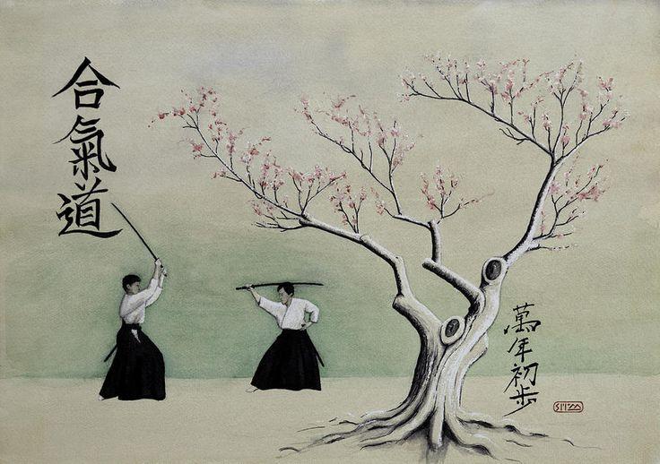 Aikido Always Beginning Painting  - Aikido Always Beginning Fine Art Print
