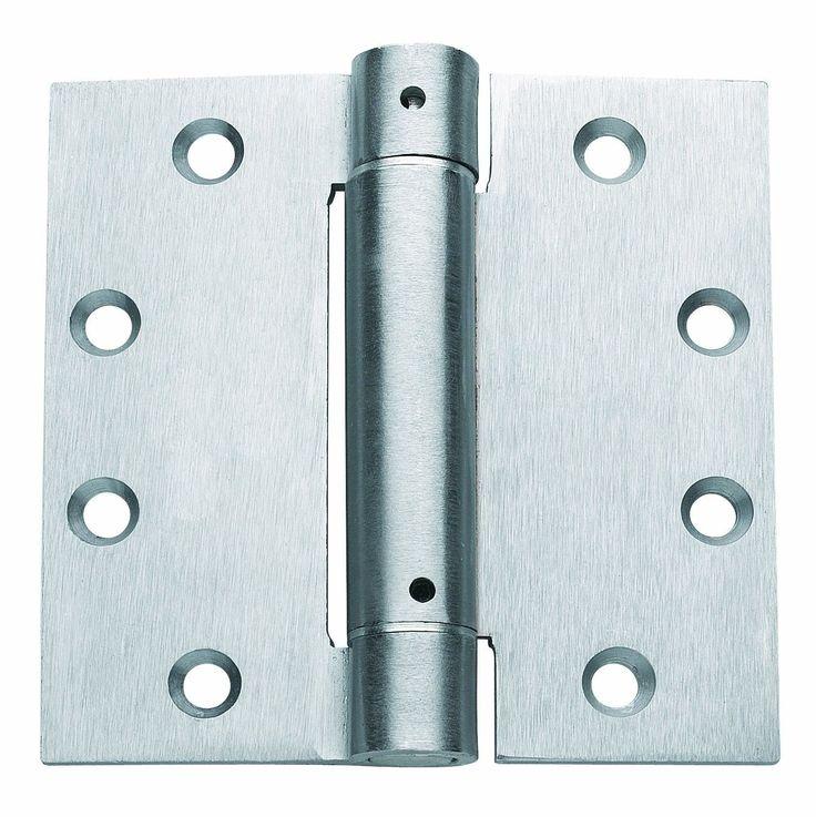 Door Hinges 66739: 4.5 Inch Chrome Steel Spring Loaded Hinge 3 Pack Door Hinges Self Closing Close -> BUY IT NOW ONLY: $34.06 on eBay!