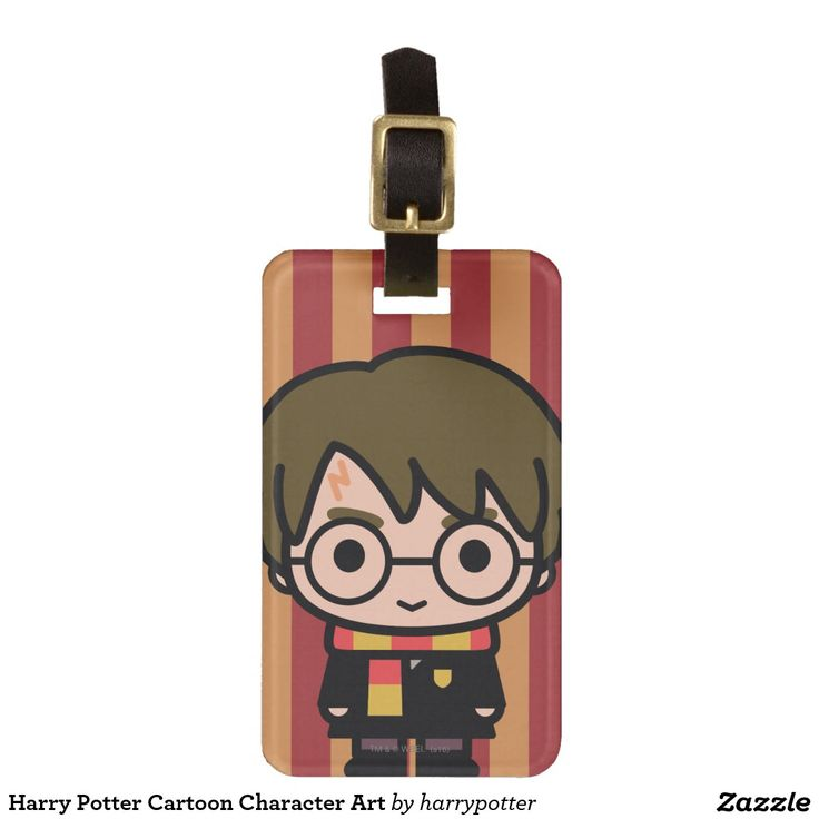Harry Potter Cartoon Character Art. Regalos, Gifts. #Bag #Tags