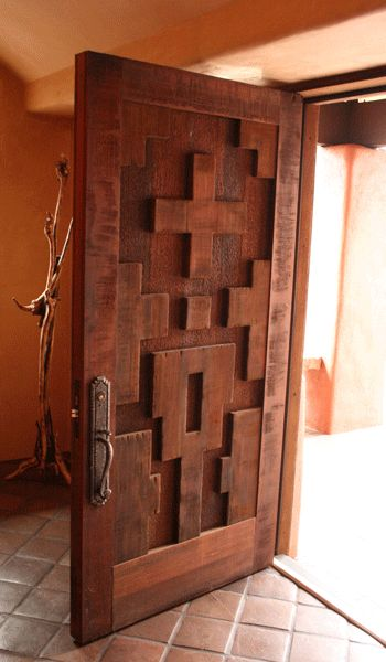 like the dimension on the door - could be cool to do with wood in your initial then paint / stain