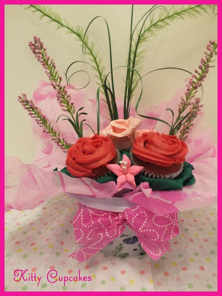 Mother's day Cupcake Bouquet  - By Kitty Cupcakes
