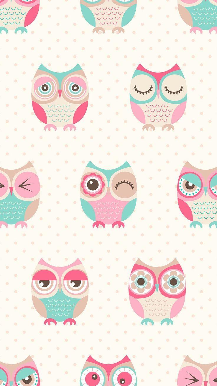 Nice Owl Pattern Kertas Dinding Seni Burung Hantu