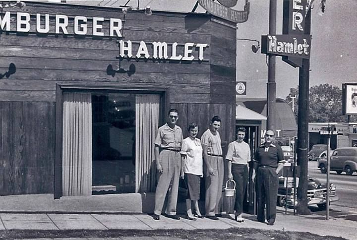 A rare pic of the original Hamburger Hamlet on Sunset Strip!