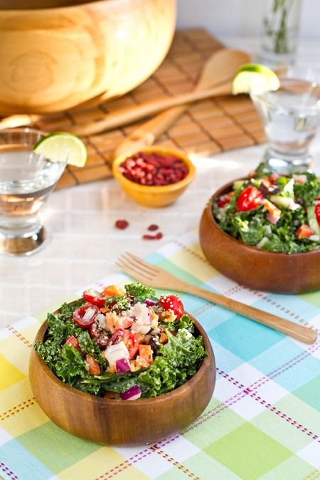 weekend glow kale salad. I tried this delicious.